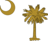 Sc Palmetto Tree Gold Clip Art