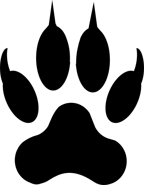 Paw print wolf. Clip art at clker