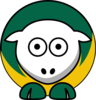 Sheep - Norfolk State Spartans - Team Colors - College Football Clip Art
