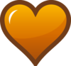 Orange Heart Icon Clip Art