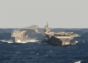 The Military Sealift Command (msc) Ship Usns Supply (t-aoe 6) Conducts A Replenishment At Sea With Uss George Washington (cvn 73) Clip Art