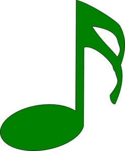 Green Note Clip Art