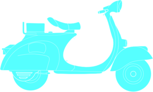 Turquoise Scooter Clip Art