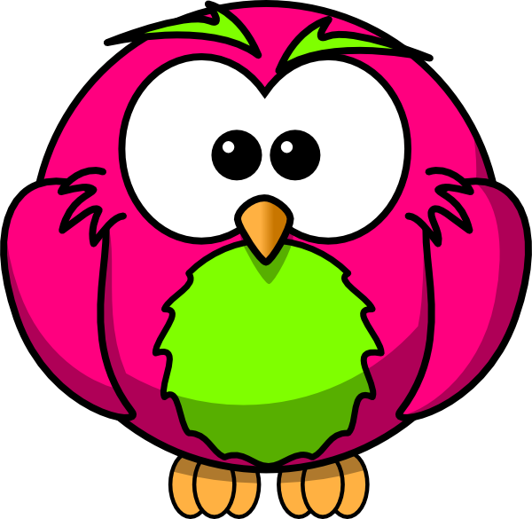 magenta and lime hoot surprised clip art at clkercom