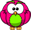 Magenta And Lime Hoot Surprised Clip Art
