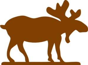 Big Brown Moose Clip Art