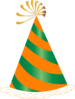 Orange And Green Party Hat Clip Art