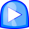 Blue Play Button Clip Art