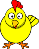 Yellow Chicken Clip Art