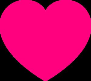 Pink Heart2 Clip Art at Clker.com - vector clip art online ...