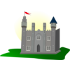 Castle With Flag Clip Art