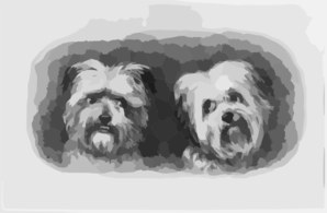 [two Terriers] Clip Art
