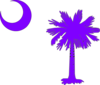 Purple Sc Palmetto Tree Clip Art