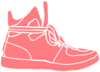 Pink White Sneakers Shoes Clip Art