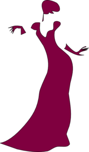 Maroon Gown Clip Art