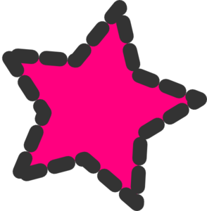 Pink Dotted Star Clip Art