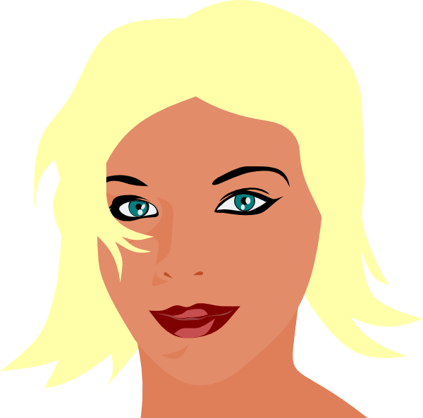 Blonde Girl With Green Eyes Clip Art At Clker Com Vector