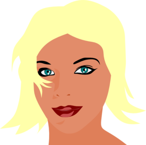 Blonde Girl With Green Eyes Clip Art