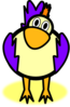 Purple Chick Clip Art