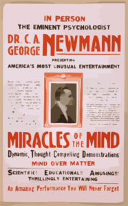 In Person The Eminent Psychologist, Dr. C.a. George Newmann Presenting America S Most Unusual Entertainment Miracles Of The Mind ....  Clip Art