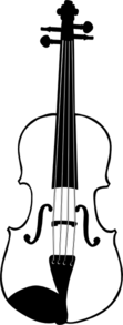 Vertical Violin Clip Art