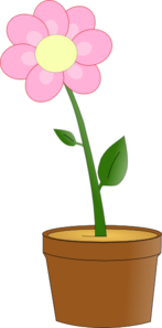 Pink Flower In Pot Clip Art At Clker Com Vector Clip Art Online
