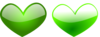 Green Hearts 2 Clip Art