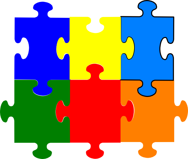 Jigsaw Puzzle 6 Pieces Clip Art At Clker