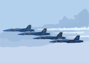 F/a-18 Hornets Assigned To The Blue Angels Perform At The 2002 N Clip Art