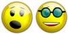 Smiley Cool Glasses Astonished Clip Art