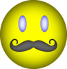 Happy Face Mustache Clip Art