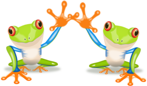 Two Frogs Clip Art