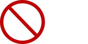 No Circle Clip Art