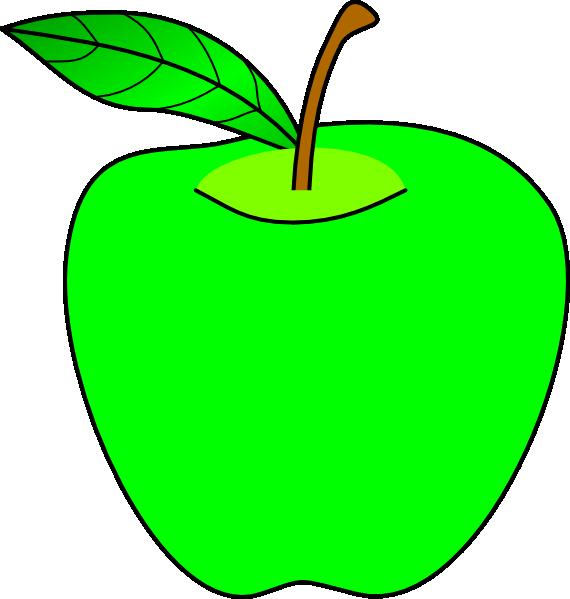 Green Apple Clip Art at Clker.com - vector clip art online ... Green Apple Outline Clip Art