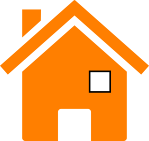House In Orange Clip Art