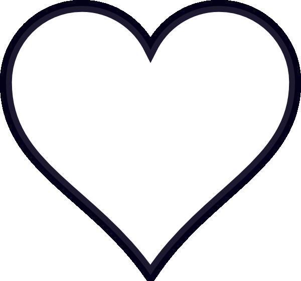 Navy Outline Heart Clip Art at Clker.com - vector clip art ...
