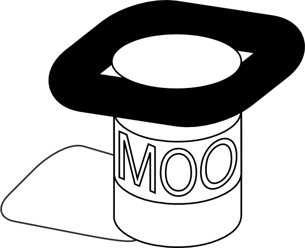 Yogurt Black And White Clipart