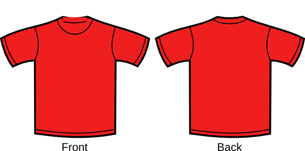 Red shirt clip art at vector clip art online for The red t shirt company