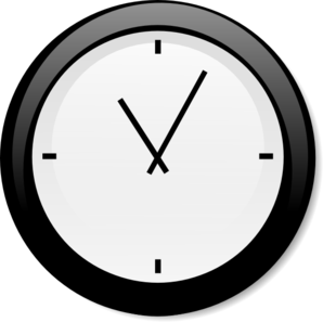 Clock No Second Hand Clip Art