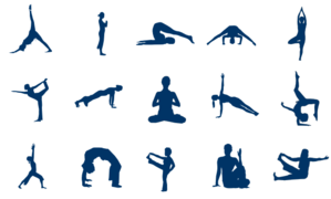 Lots Of Yoga Poses Clip Art