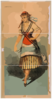 [chorus Girl In Striped Skirt And Striped Socks] Clip Art