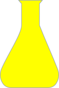Yellow Chemistry Flask Clip Art