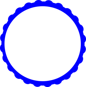 Blue Scallop Circle Frame Clip Art at Clker.com - vector clip art ...