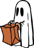 Ghost With Bag (colour) Clip Art