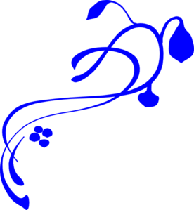 Hanging Vine Royal Blue Clip Art