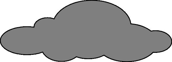 grey cloud clip art at clkercom vector clip art online
