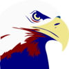 Eagle Red White Blue Clip Art