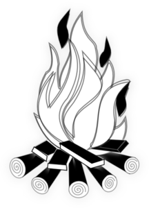 Camp Fire Black And White Clip Art