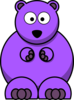 Purple Bear Clip Art