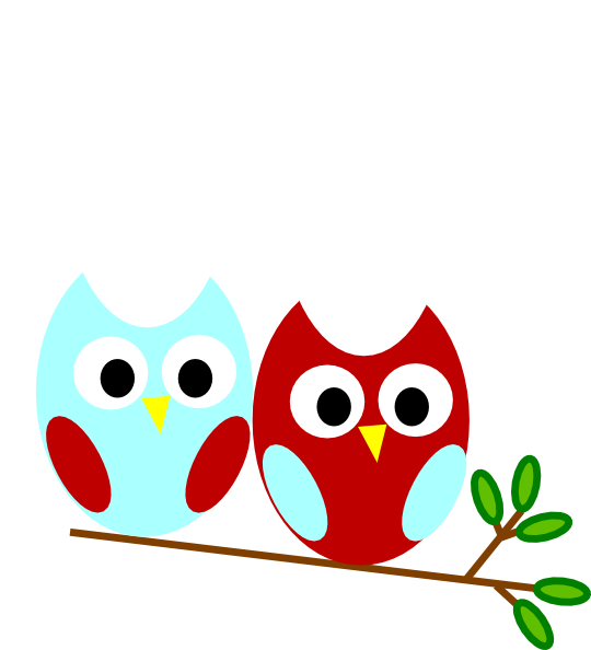 Red And Teal Owl Clip Art At Clkercom Vector Clip Art Online